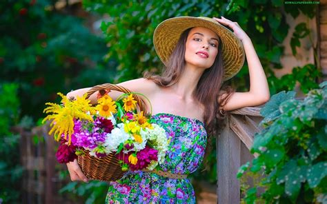 most beautiful flower bouquets hot girls wallpaper amazing beautiful and fairy girls with flowers backet hd