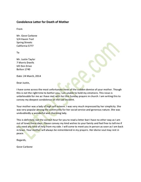 Business Letter Condolences Exles Simple And Easy To Use Condolence Letter Exles For Your Inspirations Vlcpeque