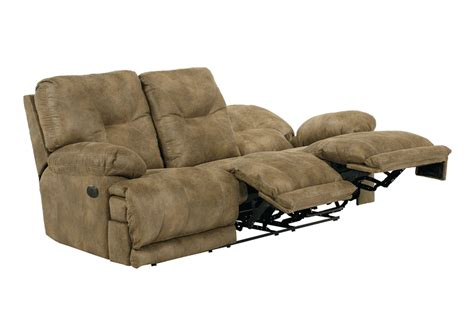 voyager sofa voyager brandy lay flat triple reclining power sofa