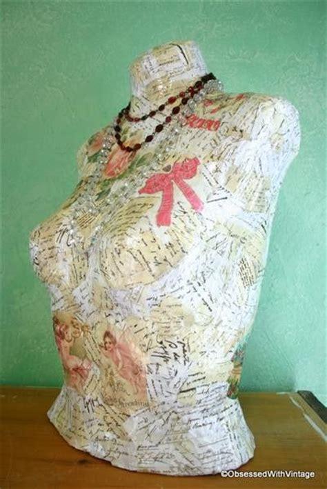 Paper Mache Decoupage - paper mache decoupage bust jewelry holder paper mache
