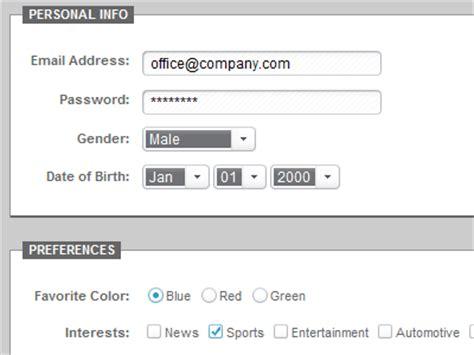 design form elements css 13 best web form design tutorials and resources