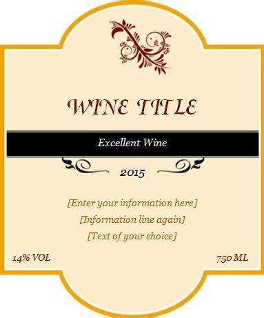 design a label template custom design wine label template word excel templates