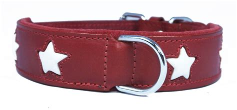 big collars leather wholesale collar with white design small to big dogs staffy collars