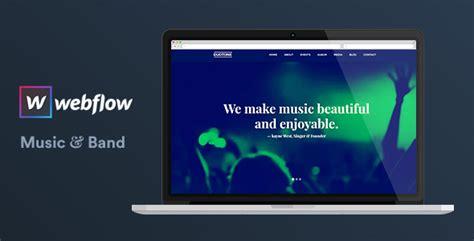 themeforest webflow music band webflow website template duotone by
