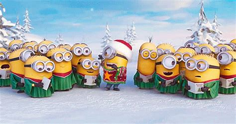 wallpaper gif minions despicable me christmas gif find share on giphy