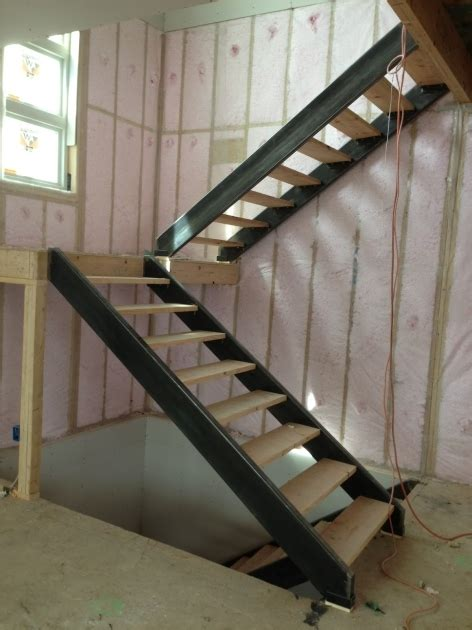 how to layout interior stairs interior stair stringers custom steel stair stringers