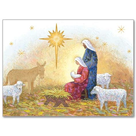 Cards With Nativity - nativity with card