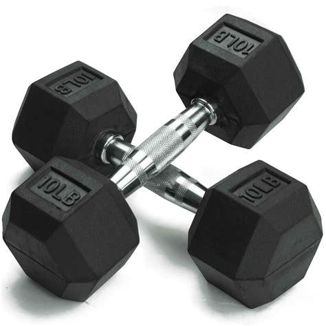 Dumbell Pasir dumbbell pairs black rubber coated hex dumbbells weight set fitness ebay