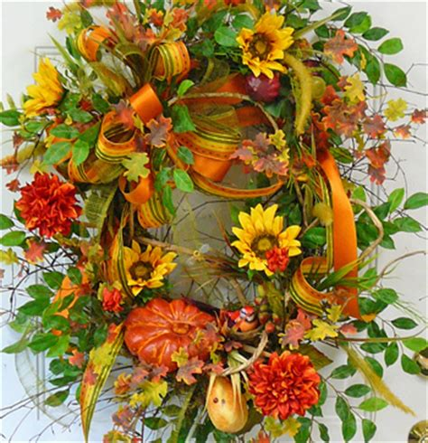 pumpkin patch fall door wreath ladybug wreaths by nancy alexander