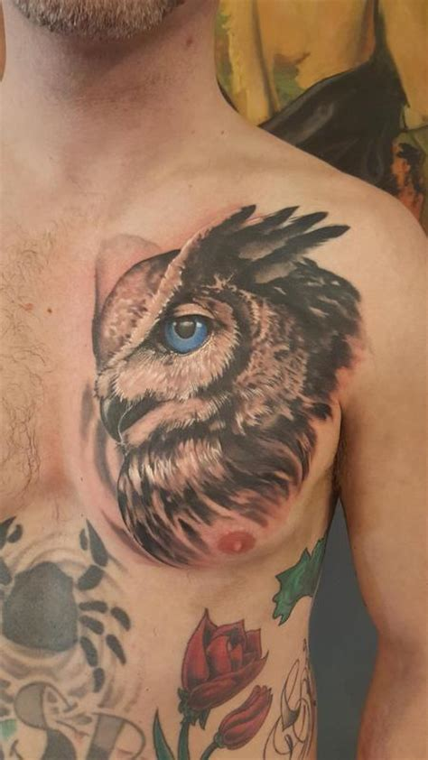 great horned owl tattoo design mark tousignant s tattoo designs tattoonow