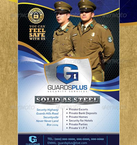 Security Guard Company Flyers