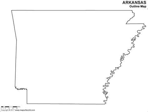 Arkansas County Outline Map by Buy Arkansas Outline Map