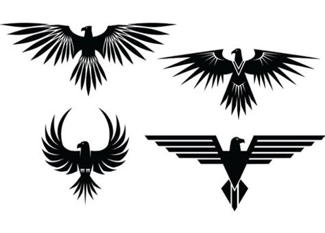 tattoo eagle vector 4 eagle symbol tattoo style vector graphics http www