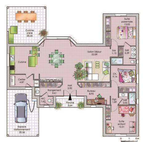 housr plans 1000 ideas about maison plain pied on pinterest plan