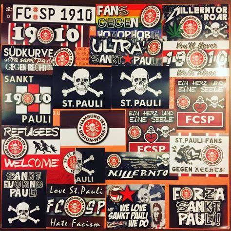 Hamburg Ultras Aufkleber by 100 X St Pauli Aufkleber Inspiriert Fahne Sticker Fcsp
