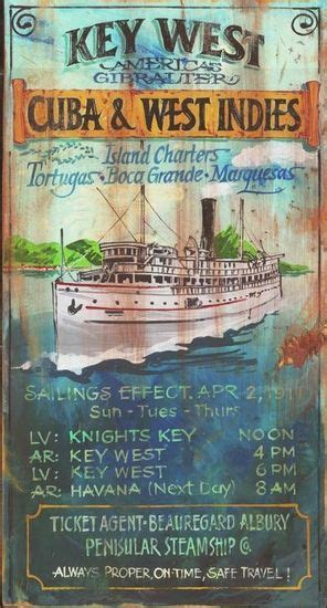 charter boat key west to cuba key west charters vintage beach sign key westish