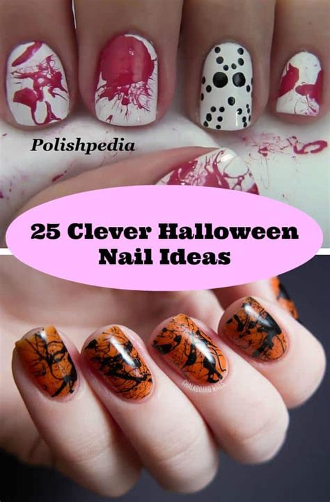 clever halloween nail ideas diy cozy home
