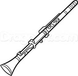 how to draw a clarinet step by step wind musical