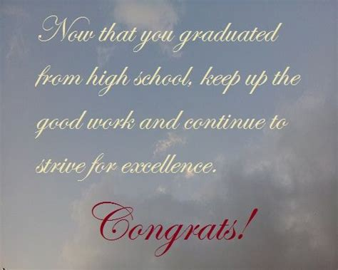 high school graduation wishes  quotes  write   card high schools graduation  high