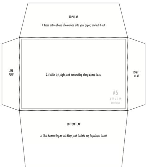 free printable large envelope template 4x6 envelopes psd pdf