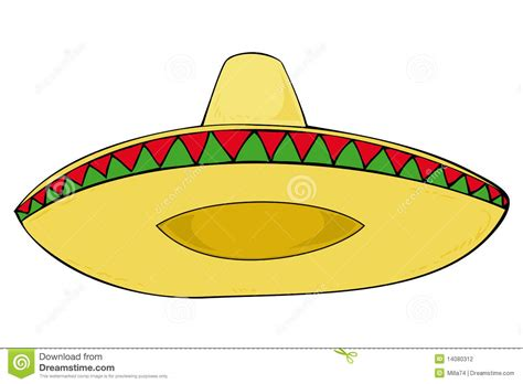 cartoon sombrero sombrero stock vector image of latin ornament material