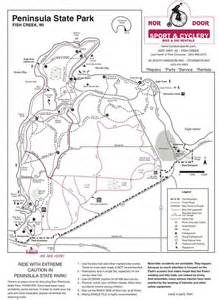 Peninsula State Park Map by Maps 171 Bridgeport Resort