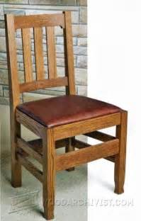 oak dining chair plans woodarchivist