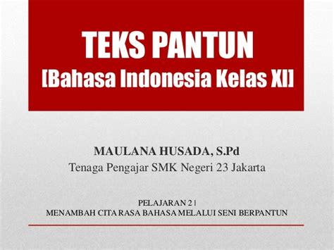 Buku Pr Bahasa Indonesia Smama Kelas 11 Semester 1 Intan Pariwara materi teks pantun bahasa indonesia kelas xi k13