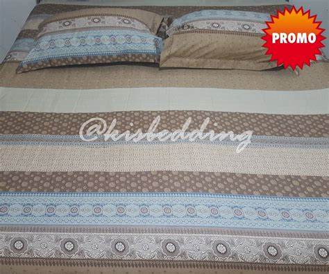 Sprei Bali Ukuran 180x200 Coklat Pink kisbedding pattern