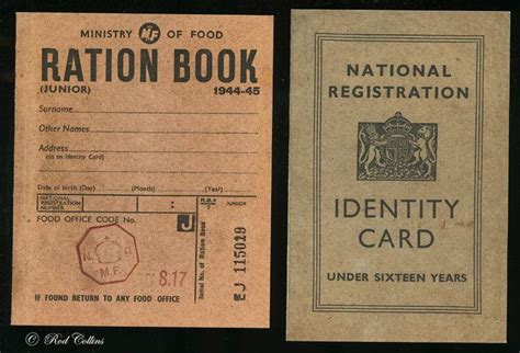 ration books and id cards ration book lincolnshire ww2