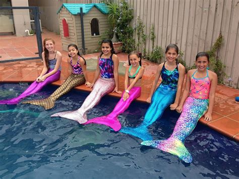 kids mermaids tails girls swimming costumes in mermaid tail design for little teen