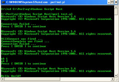 configure xp perl activeperl perl for windows testing the windows script