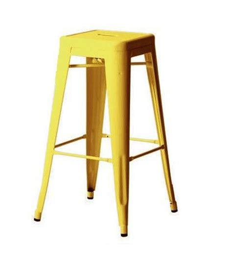 tabouret tolix h65 jaune citron ral 1018b