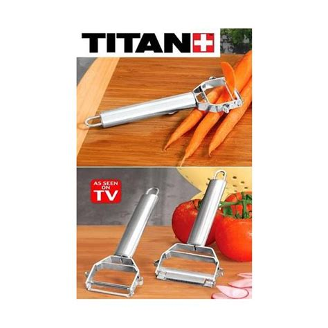 a review of the stainless steel titan peeler as seen on tv