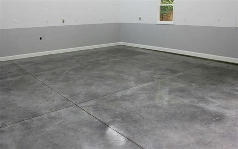 Concrete Garage Floor Covering by Densifier With Stainguard Gets A Polished Garage Floor
