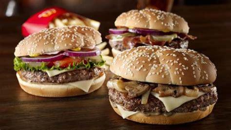 Beef Burger Patties Premium mcdonald s trio of premium burgers by michelin grade chefs