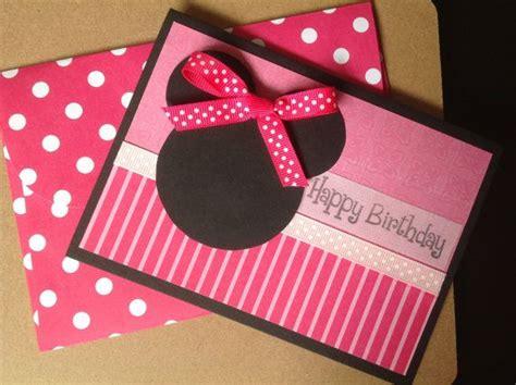 Handmade Minnie Mouse Birthday Cards - handmade minnie mouse birthday card minnie mouse birthday