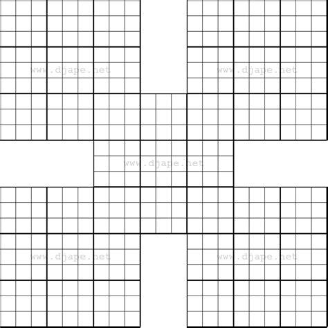 printable blank sudoku puzzle grids blank sudoku grid blank printable samurai sudoko grid 6