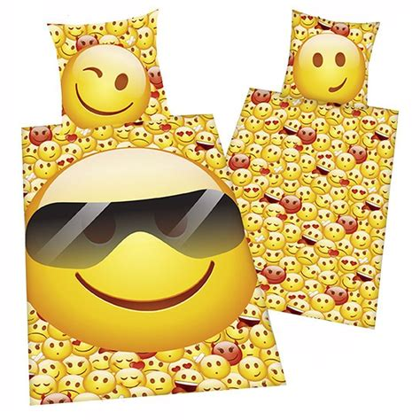 bed emoji emoji sunglasses smileys single duvet cover set official