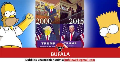donald trump simpsons bufala i simpsons e donald trump nel 2000 bufale net