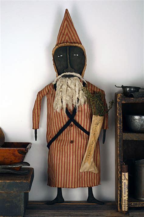 Handmade Vintage Folk Pirate S - primitive santa doll primitive folk
