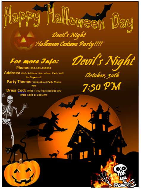 halloween templates for word flyer design images gallery category page 1 designtos com