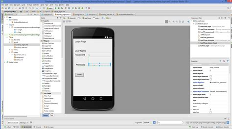 android studio gui tutorial android studio android login screen exle