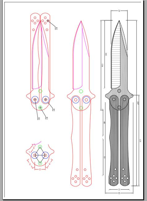 Butterfly Knife Template Bing Images Butterfly Knife Template