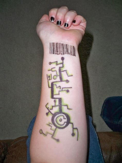 barcode tattoo design barcode ideas creativefan