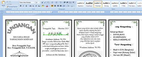 template buat undangan pernikahan download undangan nikah microsoft word joy studio design