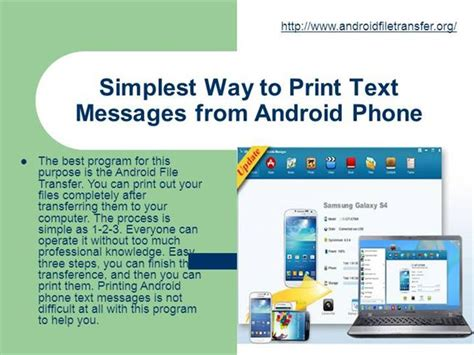 print text messages from android simplest way to print text messages from android phone ppt present