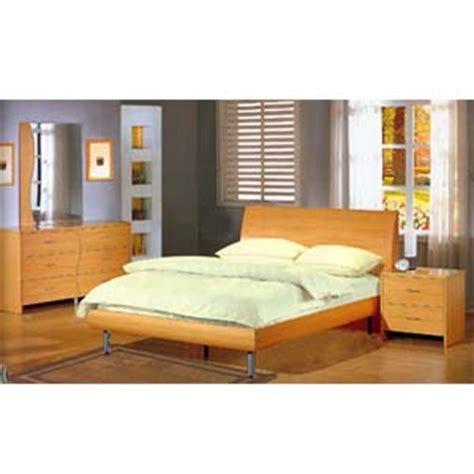 bedroom furniture 5 contemporary maple bedroom set