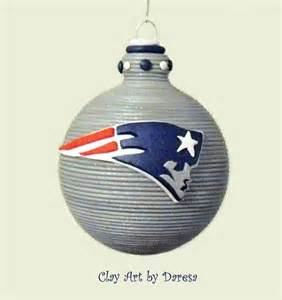 new england patriots polymer clay christmas ornament