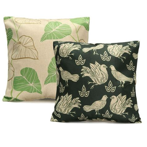 Printing On Pillows by New Linen Pillow Pillow Cover Green Leaves Printing